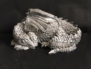 "Pewter Dragon Statue Michael Ricker Mythology Series Figurine Chris #751/1500. 7.5"" long for Sale in Henderson, NV"