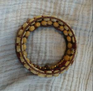 Multicolored spiral beaded bracelet for Sale in Altavista, VA