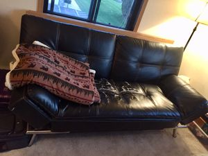 MOVING SALE: FREE leather futon, must pickup!! for Sale in Bristol, WI