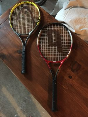 Head and Prince Tennis Rackets for Sale in Millersville, MD