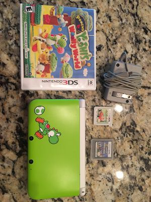 Yoshi Nintendo Original 3DS XL Special Edition includes Poochy and Yoshi Woolly World, Art Academy, New Super Mario Brothers oshi's for Sale in Franklin, TN