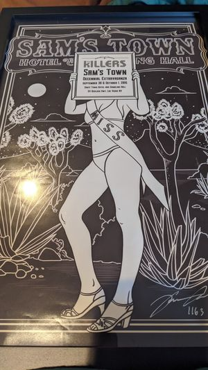 The killers. Sam's town poster. for Sale in Los Angeles, CA