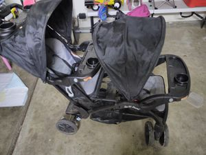 Baby trend sit n stand double stroller for Sale in Bakersfield, CA