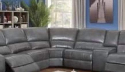 New Gray Power Recliner Sectional Couch Only $50 Down Payment for Sale in Los Angeles,  CA