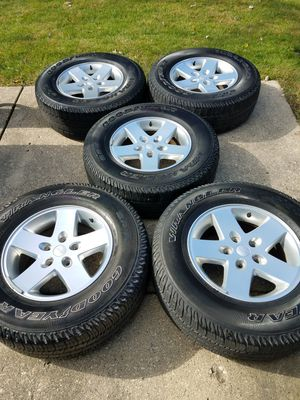 RIMS WHEEL. 2015. Jeep Wrangler. TIRES 60% for Sale in Elgin, IL