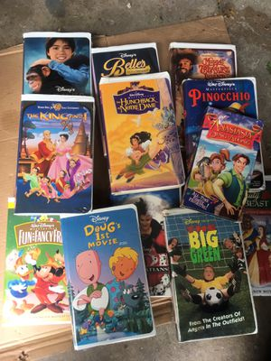 DISNEY VHS TAPES and others. 52 total for Sale in Worth, IL