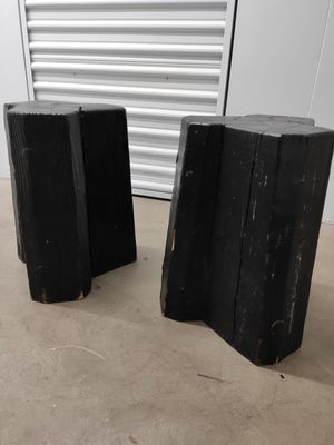 Matching dark wooden tree trunk stools for Sale in Chantilly, VA