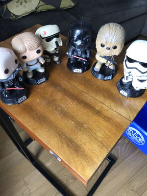 Star Wars authentic bubble heads collectible 6 of them $120 for Sale in Fresno, CA