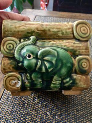 Hand Painted Elephant Ceramic Pot for Sale in Cranston, RI