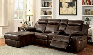 Dark brown recliner sofa sectional couch for Sale in Downey, CA