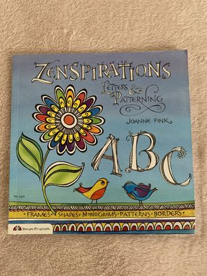 Zenspirations Letters & Patterning Book for Sale in Glendale, CA
