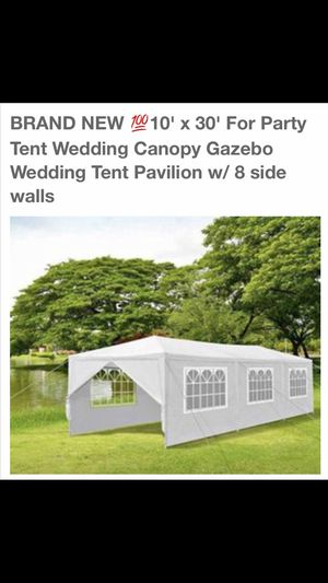 BRAND NEW 10x30 FOR PARTY TEND WEDDING CANOPY GAZEBO WEDDING TENT PAVILION W/8 SIDE WALLS for Sale in Rialto, CA