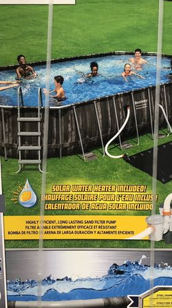 22ft Framed Pool With Solar Heater + Sand Filter Pump+ Cover + Ladder for Sale in Los Angeles,  CA