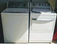 Whirlpool Washer and Dryer Pair AS IS.
