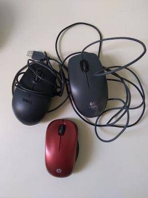 3 MOUSE DELL LOGITECH WIRELESS MOUSE HP for Sale in Riviera Beach, FL