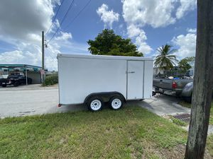 6 x 12 Enclosed landscape/ cargo/utility trailer with barn rear doors 👉🏾 $2500.00 Firm No Offers for Sale in Hollywood, FL