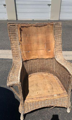 Old Wicker chair for Sale in San Luis Obispo, CA