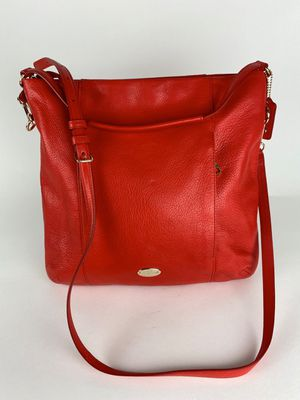 COACH Isabelle Pebbled Leather Hobo Bag Cardinal for Sale in Marietta, GA