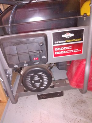 Briggs & Stratton Storm responder generator like new used twice serviced ready to go. I just have two other units. for Sale in Southampton Township, NJ