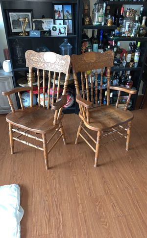 2 captains dining chairs for Sale in Denver, CO