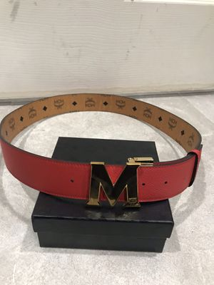 MCM Orange Reversible Red Belt *Authentic* for Sale in Queens, NY