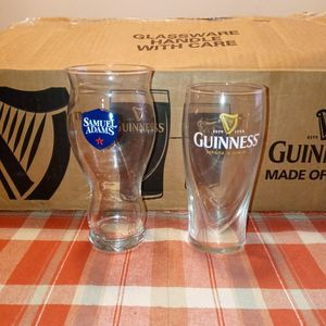 Samuel Adams And Guinness Beer Glasses 2019 Edition Collectible for Sale in Gulfport, MS