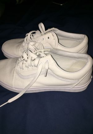 All whit Vans, Size 9 men's. DS for Sale in Massillon, OH