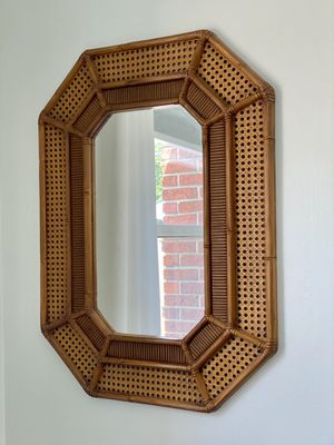 Vintage Mid Century Modern Boho Faux Bamboo Mirror for Sale in Grosse Pointe Woods, MI