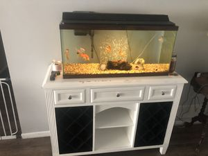 30 gallon Fish tank + Stand for Sale in Holiday, FL