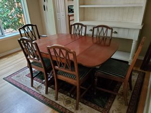 Antique table and 6 chairs for Sale in Beaverton, OR