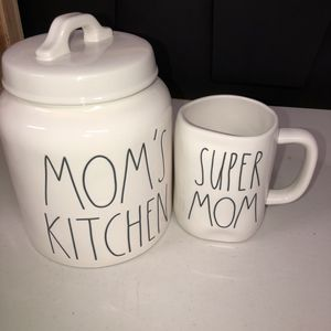 Rae Dunn Mother's Day Set MOM'S KITCHEN CANISTER & SUPER MOM Mug for Sale in Anaheim, CA