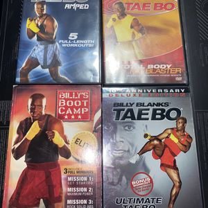 4 Taebo Exercise DVD Lot for Sale in The Bronx, NY