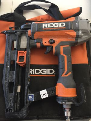 Ridgid Pneumatic 16 Gauge 2 1/2 in. Straight Finish Nailer for Sale in Mesa, AZ