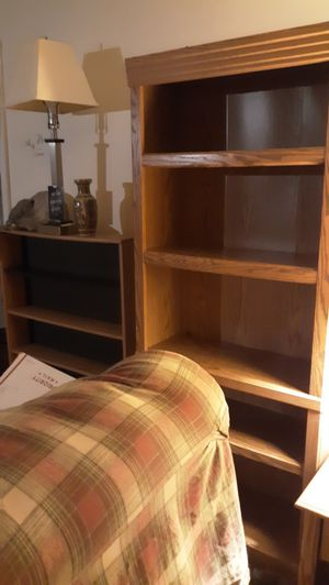 Bookshelves lamps house furnishings one price for all for Sale in Akron, OH