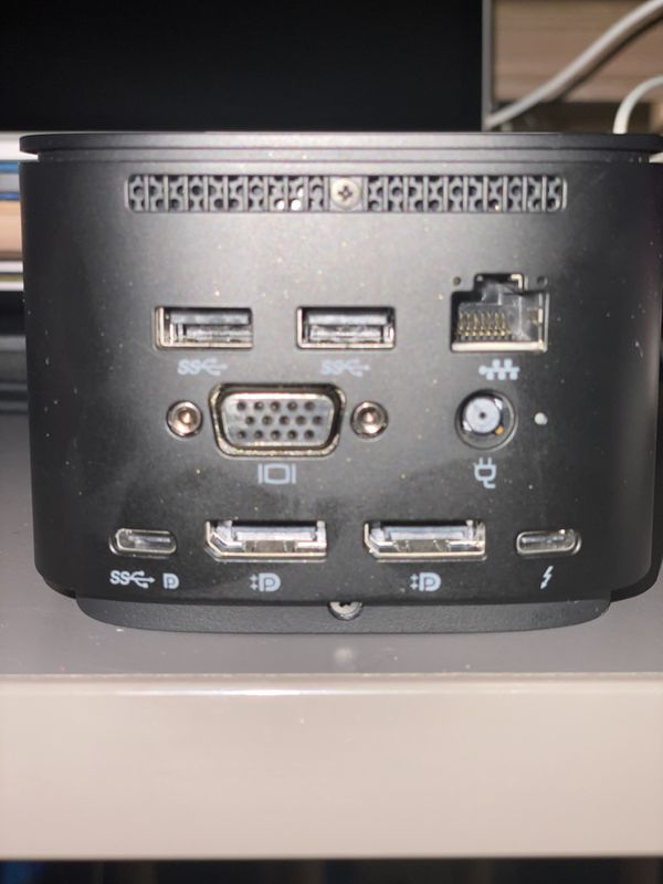 HP 3TR87AA TB Dock with Combo Cable Black