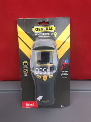 GENERAL TOOLS PROFESSIONAL DIGITAL PINLESS MOISTURE METER WITH BACKLIT LCD for Sale in Redlands, CA