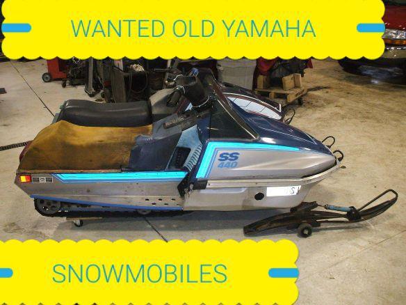 WANTED OLD YAMAHA snowmobiles