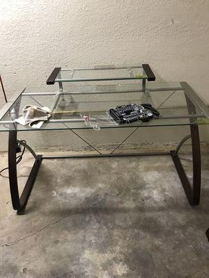 GLASS COMPUTER DESK for Sale in Honolulu, HI