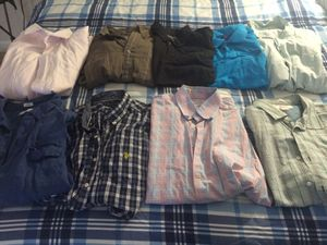 Lot of 9 pieces of men's clothes size XL. Some brands are: Columbia, Nautica, Aeropostale, Perry Ellis, Penguin, US Polo Assn, Calvin Klein for Sale in Hialeah, FL