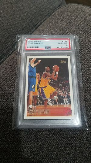 Kobe Bryant 1996 Topps rookie card grated mint 8 for Sale in Montebello, CA