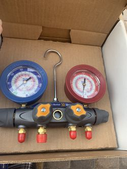 Brand new 4 valve brute 2. Yellow jacket guages hvac. Freon. R-22 o for Sale in Las Vegas,  NV