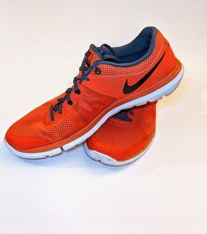 NIKE Men's Flex Run Running Shoes Team Orange/Grey for Sale in Las Vegas, NV