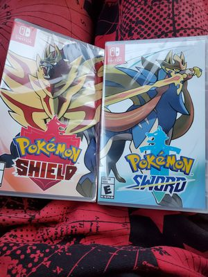 Pokemon shield and pokemon sword for Sale in St. Louis, MO