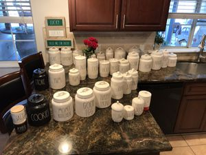 Rae Dunn Canisters Galore & more. COOKIES 🚀..Custom your desired post sets Welcomed..🤠 for Sale in Sanger, CA
