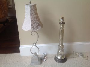 The prettiest lamps mercury glass one is pottery barn 35-45 each. Have other floor ones too for Sale in West Chester, PA