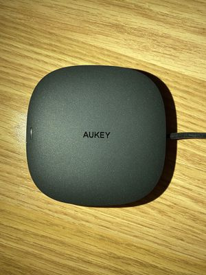 AUKEY USB C Hub Adapter with Wireless Charger 5-in-1 Type-C Hub for Sale in Las Vegas, NV