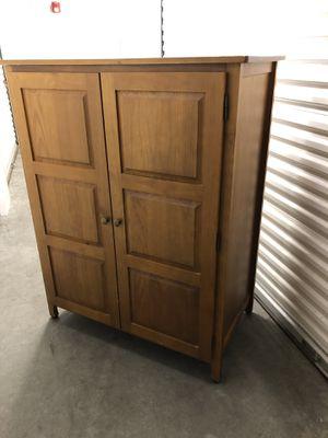 PIER 1 - Desk/Cabinet *All wood. original price = $500 for Sale in Tacoma, WA