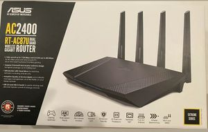 Brand new opened box ASUS RT-AC87U AC2400 1734 Mbps 7-Port Dual Band Gigabit Wireless WiFi Router for Sale in Avondale, AZ
