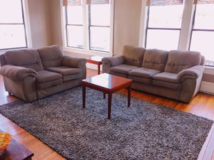 Living Room Furnature Set (matching Couches, Coffee Tables, Carpet, & TV Stand) for Sale in Dallas, TX