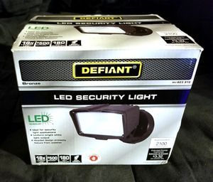 DEFIANT Bronze Integrated Outdoor LED Security Flood Light Switch Controlled 2100 Lumens 5000K Daylight for Sale in Seattle, WA